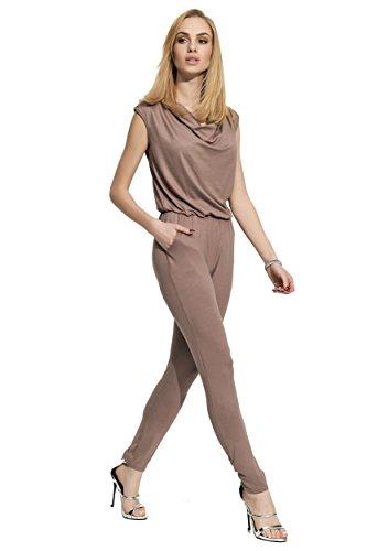 Folly-mode dames elegante overall jumpsuit met lichte watervaluitsnijding maat S, M, L, XL, 36, 38, 40 42, F12.