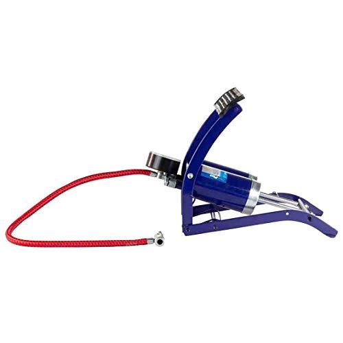 Fußpumpe, Doppelzylinder mit Manometer, Fuß Pumpe, für Fahrrad, Auto, Motorrad, etc, Reifenpumpe, Reifenfüller, Bodenpumpe