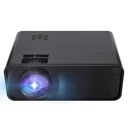 HD Portable Intelligent 3D Projector, 480P Physical Resolution, AV/USB Input/TF/HDMI/VGA Card, Support MP3 / WMA/AAC / 1080P 1500lm LCD Home Theater Projector, Best Gift (US)