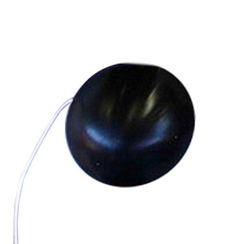 Eccentric Clown Noses medio nariz de payaso negro - 100% de silicona