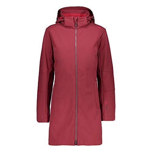CMP – F.LLI Campagnolo Damen Softshellmantel mit ClimaProtect-Technologie 7.000mm Coat, Syrah-Granita, D36