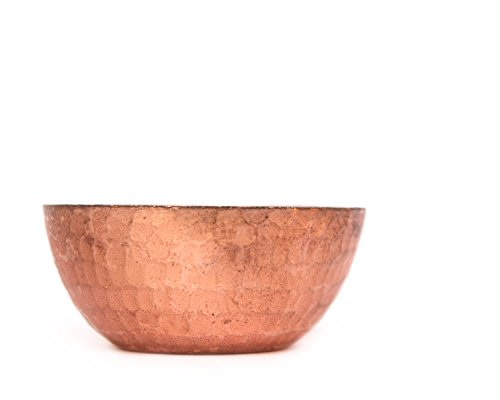 De Kulture Works Handmade Pure Copper Candle Bowl Set Of 3-2.5X1 DH (Inches) (Brown)