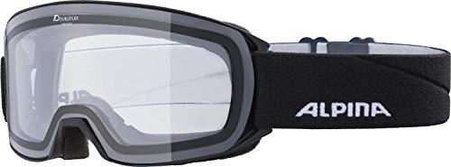 ALPINA Unisex - Erwachsene, NAKISKA Dclear Skibrille, black, One size