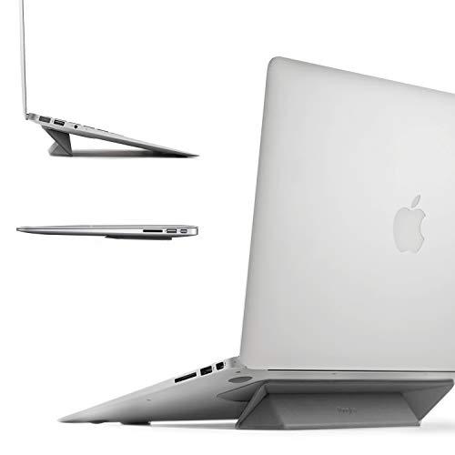 Ringke Supporto per Laptop [Grigio] Supporto Portatile Pieghevole Anti-Scivolo Pieghevole Sottile e Senza Peso Supporti Laptop, Notebook, iPad, Tablet