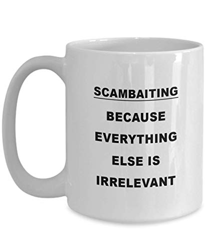 DJNGN Divertido Sam Baiter/Scammer Gifts Scambaiting Coffee Cup, Proud Hobby Scambaiting Tea/Coffee Taza de cerámica