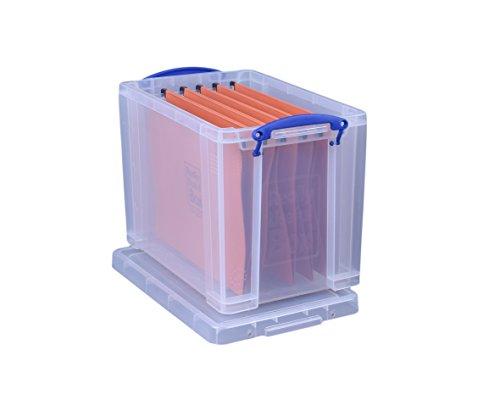 Really Useful Filing Box - Caja de almacenaje para documentos (19L, A4), transparente