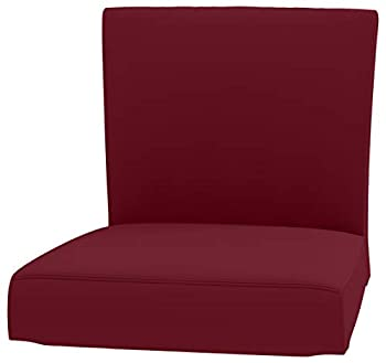 The Heavy Duty Cotton Henriksdal Bar Stool with Backrest Cover Replacement is Made Compatible for IKEA Henriksdal Bar Stool Chair Cover Or Slipcover  Wine Red