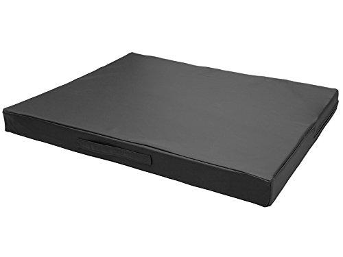 CopcoPet - Hundematte Jumbo L ca. 100 x 80 x 8 cm Schwarz mit sehr robustem Kunstleder