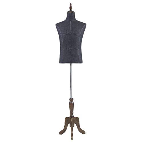 XIN maniquí masculino torso cuerpo bustos con trípode soporte altura ajustable modelo ropa pantalla forma