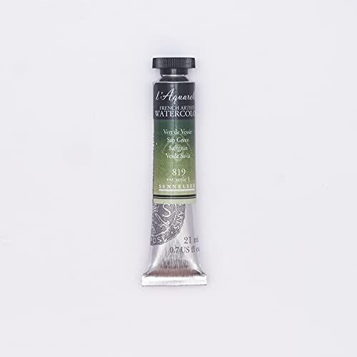Sennelier French Artists Watercolor, 21ml, Sap Green S1