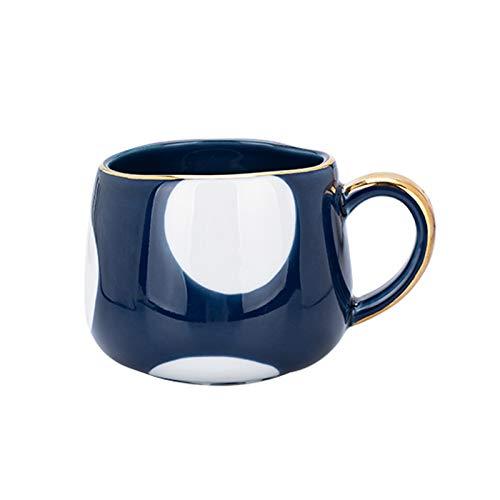 Tazas para niños Taza de cereina de Avena de cerámica 12.8 oz Taza de café a Rayas Pintada a Mano, Taza de Desayuno y Taza de Leche Microondas y lavavajillas Uso Seguro Taza de té (Color : D)