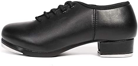 DKZSYIM Tap Shoes Patent Leather Full-Sole Lace-up Dancing Shoes