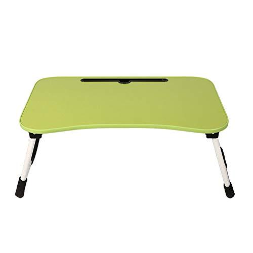 Draagbare laptop-bureau, met tablet en telefoonsteunen, slaapzaal, bed, bank, gazon groen