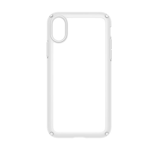 Speck Products Presidio Show Case for iPhone XS/iPhone X, Clear/Bright White