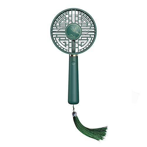 Ventilador De Mano, Ventilador Silencioso, Mini Ventilador, Ventilador Usb Con 3 Modos De Velocidad, Adecuado Para Oficina, Hogar, Deportes Al Aire Libre, Camping, Etc. Verde