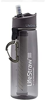Lifestraw LSGOV2CR44 Go 2-stage Filter Bottle Sports and Outdoor, Grey