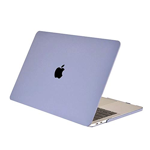 TianTa MacBook Pro 15' Case A1990/A1707 (2019/2018/2017/2016), Smooth Matte Hard Shell Case Cover Protective Laptop Shell Cover for MacBook Pro 15' with Touch Bar and Touch ID, Lavender Ash