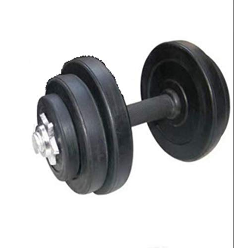 HUJPI Vinyl Hanteln, Verstellbare Hantel rutschsichere für Krafttraining Hantel freies Gewicht Home Gym,Black_15kg*1
