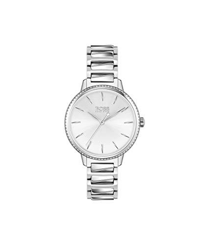Hugo Boss Damen Analog Quarz Uhr mit Edelstahl Armband 1502539
