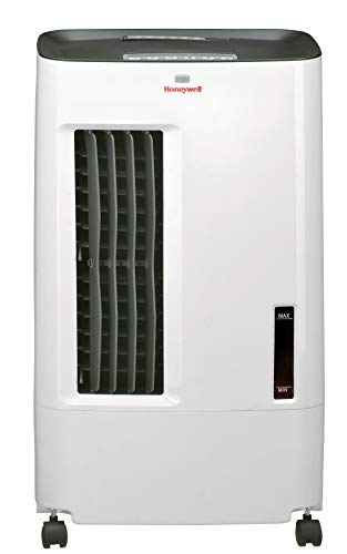 HONEYWELL CSO71AE 176 CFM Indoor Evaporative Air Cooler (Swamp Cooler) with Remote Control in White/Gray
