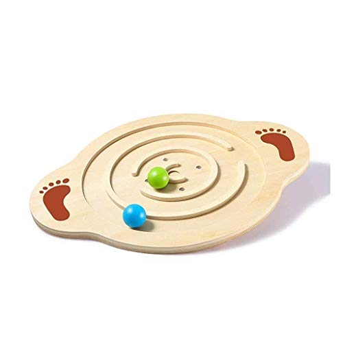 Why Choose Balance Board Wooden Wobble Balance Board with Non-Slip Board Vestibular Sensory Training...