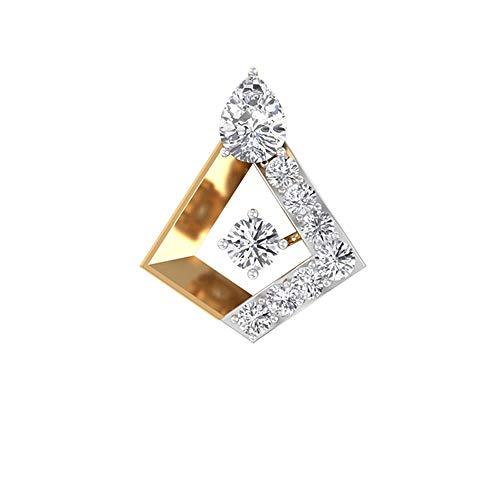Rosec Jewels 10 quilates oro amarillo round-brilliant-shape pear-shape H-I Diamond