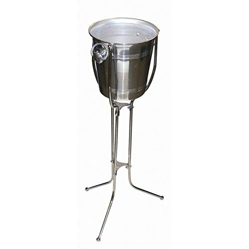 We Can Source It Ltd - Soporte Plegable de Acero Inoxidable para cubetas y cubitera de Hielo para Restaurante, Ice Bucket