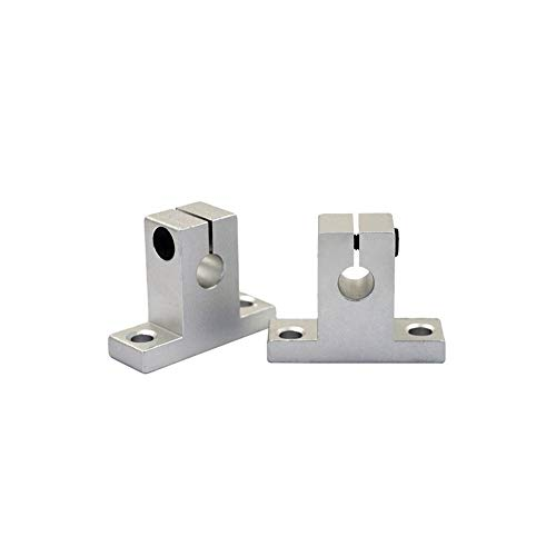 HUANRUOBAIHUO 1PC Linear Rail Shaft SK8 SH8A SK10 SK12 SK16 Aluminum Block 8/10/12/16mm Router Table Support XYZ Table CNC Slid Router Bracket 3D Printer Parts (Size : SK16)