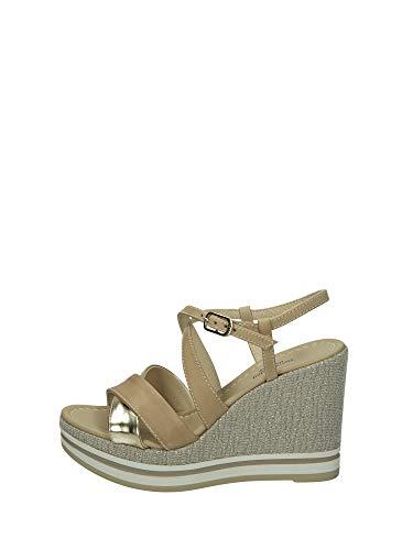 Sandalo da Donna NeroGiardini in Pelle Champagne E012460D. Scarpa dal Design Raffinato. Collezione Primavera Estate 2020. EU 39