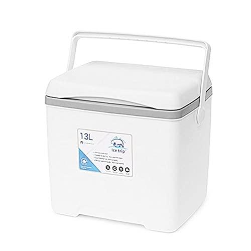 13L Outdoor Multifunktionale Campingkühler Isolierbox Biergetränk Kühlung Tragbare Reise Picknicktasche Auto Kühlschrank Gefrierschrank (Color : W)