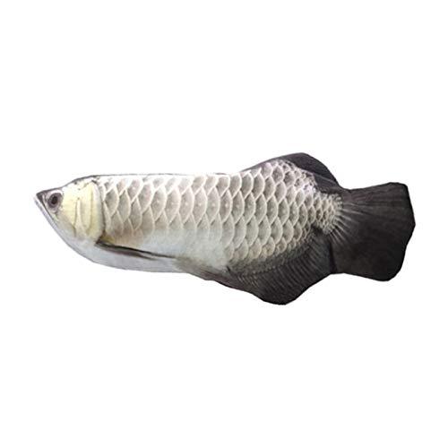 Casinlog Eléctrico movimiento de pescado juguete realista de la felpa simulación eléctrica meneando pescado juguete plata Arowana