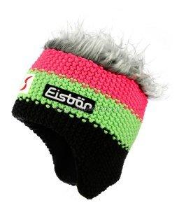 Eisbär Mütze Star Cocker ÖSV (Farbe: schwarz/grün/pink graue Haare)
