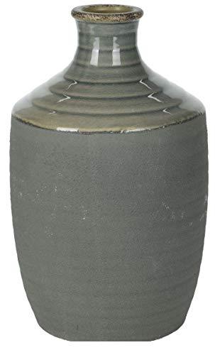 Koop Grand vase en forme de bouteille en céramique rose, blanc, bleu et gris - Très grand format (gris)