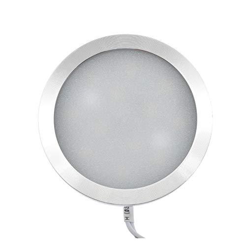 RongWang Techo 2.5W 12V LED Ahuecó Abajo De La Luz del Coche Iluminación Interior del Techo Interior Luz del Gabinete De La Lámpara For Camper RV Remolque del Barco Van (Color : White, Size : Side)