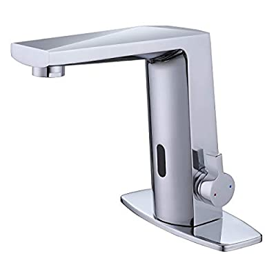 Bathroom Sink Faucets Touchless Faucet Automatic Sensor Bathroom Sink Hands Free Faucet Bathroom Basin Brass Faucet, Chrome Finish