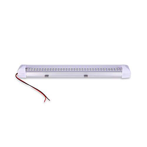 XICI LED Barra de Luz Interior del Coch, DC 12V 4.5W Luz de Tira Universal con Interruptor lámpara de Coches T5 Tubo Lámpara de Tira para automóvil