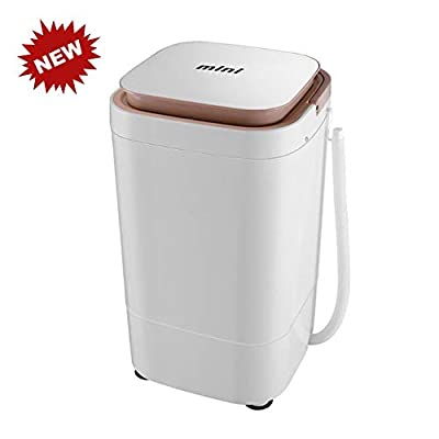 QINYUP Portable Washers Mini Single Tub Washing Machine Washer And Spin Dryer 4kg Total Capacity 2kg Drying Suitable for Camping Apartment Dormitory
