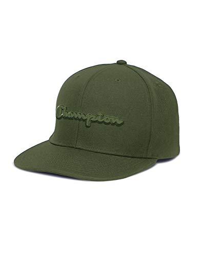 Champion Life Mens Snapback Script Logo Baseball Hat, One Size, Cargo Olive