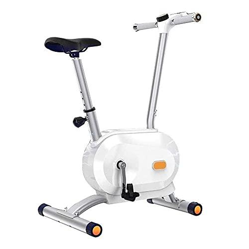 SAFGH Bicicleta de Ciclo para Interiores Bicicleta de Ejercicios Volantes Seguros de Envoltura Completa Transmisión por Correa silenciosa con Sistema de Resistencia para Bicicleta de Entrenamiento