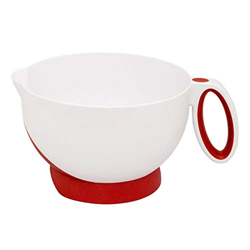 Deluxe Batter Bowl Mixing With Handle And Measurements, Red-Mixing bowl-Mixing bowls-Bowls for kitchen-Mixing bowls for kitchen-Prep bowls