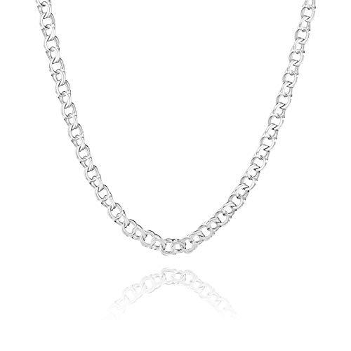 STERLL Herren Hals-Kette Sterling-Silber 925 55 cm Ohne Anhänger Geschenkverpackung Geschenk für Männer