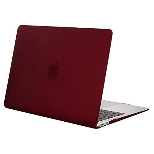 MOSISO Funda Dura Compatible con 2020 2019 2018 MacBook Air 13 Pulgadas A2179 A1932 con Pantalla Retina & Touch ID, Ultra Delgado Carcasa Rígida Protector de Plástico Cubierta, Marsala Rojo