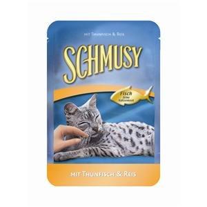 Schmusy | Fisch Mit Thunfisch & Reis im Frischebeutel | 24 x 100 g