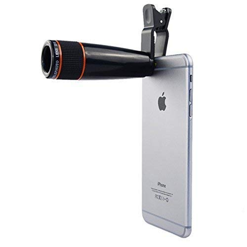 AYBOR Cell Phone Camera Lens, 12X Zoom Telephoto Universal Clip On hd Lens Kit for iOS and Android Smart Phone | DSLR Blur Background Effect