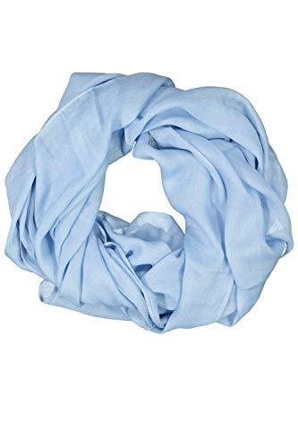 GINA LAURA Damen Schal, einfarbig, Fransenkanten, weiche Viskose hellblau 1Size 748087 72-1
