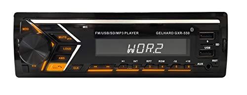MP3-Autoradio Bluetooth Freisprechfunktion RDS 2xUSB SD 4x50W Gelhard GXR550
