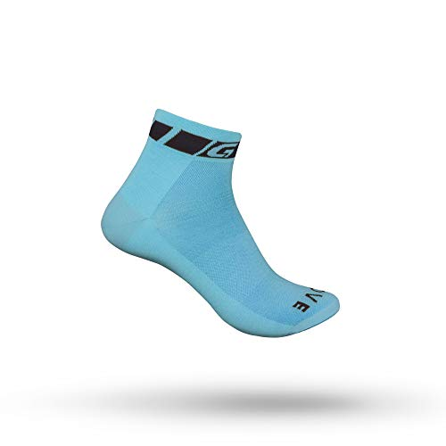 GripGrab Unisex's Classic Low Cut Short Summer Cycling Socks Single & Multi 3Pack Bicycle Road Mountain-Bike Indoor Spinning, Blue-1 Pair, M (EU 41-44 // UK 7.5-10)