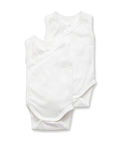 Petit Bateau lot 2 naiss. SM Body Mixte bébé Blanc (Special Lot 00) 0-3 mois (Taille fabricant: 3M) Lot De 2