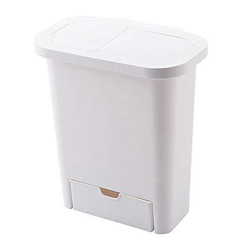 hhxiao prullenbak keuken kast deur opknoping prullenbak met deksel muur gemonteerd afval manden Push-top prullenbak vuilnisbak