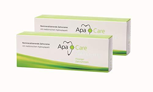 2x Apa Care remineralisierende Zahncreme 75 ml Flüssiger Zahnschmelz Zahnpasta